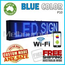 LED SIGN Blue WiFi Control Programmable Message Window Display Board 990 x 190