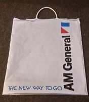 AM General bus/hummer/humvee/jeep/amc EMPLOYEE PLASTIC BAG TOTE 1970's PROMO OLD