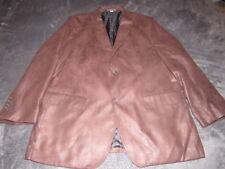 JOHNSTON & MURPHY Men's BROWN FAUX Leather Blazer Jacket SIZE LARGE NICE SHAPE