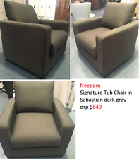 freedom Signature Tub Chair in Sebastian dark gray orp $649