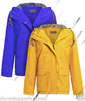 NEW WATERPROOF Festival Mac Ladies PVC Raincoat Women Jacket Size 10 12 14 16 18
