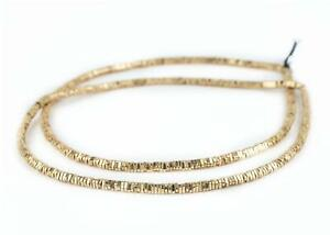 Faceted Gold Triangle Heishi Beads 4mm, 16 inch Strand Brass 16 Inch Strand