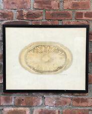 C1870 Original Gustave Keller Orfevre Paris Silver Platter Illustration Drawing