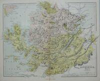 1868 Karte Schottland ~ Inverness Ross & Cromarty Skye Loch Ness Kilmorack