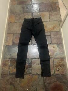 Ladies Lee Size  10 Black High Licks Skinny Leg Jeans With  Ankle Zip