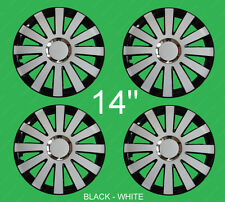 "FIAT 500 14"" Wheel trims  4x14"" full set BRAND NEW - full set black / white 14"""