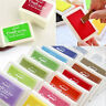 Child-safe Rubber Stamps Craft Inkpad Ink Pad for Paper Wood Fabric Scrapbook