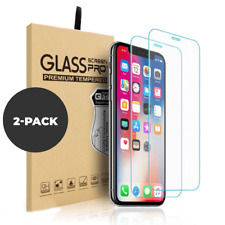 For Apple iPhone 11 Pro Max XR XS X 2 Pack Screen Protector Glass Case Friendly