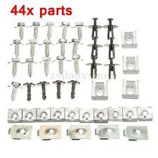 44x PARTS ENGINE UNDERTRAY UNDER COVER SPLASH GUARD SCREW TRIM CLIPS FOR BMW E46