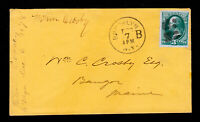 BANKNOTE STAMP SCOTT #158 ORANGE COVER BROOKLYN B CDS FANCY CANCEL 1878