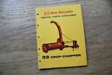 NEW HOLLAND 33 CROP CHOPPER SPARE PARTS CATALOGUE 1966 GENUINE ORIGINAL MANUAL