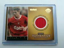 Topps Premier Gold - Michael Owen Liverpool  Match Worn Shirt Card  25/350