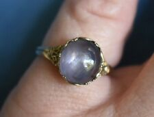 Antique STAR SAPPHIRE Arts & Crafts Art Nouveau CHARLES KRALL 9Ct Gold 6.5 Ring