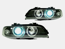 DEPO 01-03 BMW E39 ANGEL HALO XENON D2S BLACK PROJECTOR HEADLIGHT+ AUTO-LEVEL