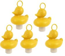 5 Weighted 7cm Plastic Ducks with Hooks - Yellow Hook-a-Duck,Fundraiser,school