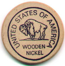 1000 - WOODEN NICKELS - CUSTOM PRINTED