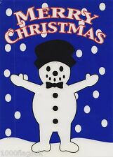 Christmas Cling On Vinyl Car Window Sticker - Snowman cc8