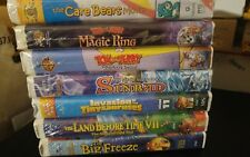 Children's VHS Seven Animated Movie Lot Sealed  Clamshell Land before Time Free