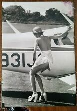 """PETER BEARD """"Bianca Jagger Plane"""" 14x19 inches LARGE"""