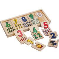 Montessori Material Zahlenkarten Lernspielzeug Holzspielzeug Lernen Mathe G5A5