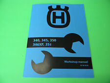 Husqvarna Chainsaw 340 345 350 351 346xp Service Shop Manual