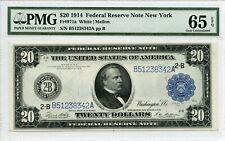 FR971a $20 1914 FRN New York PMG 65 EPQ Gem UNC (#571 DFP 4/6)