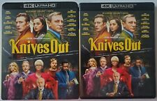 KNIVES OUT 4K ULTRA HD BLU RAY 2 DISC SET + SLIPCOVER SLEEVE FREE WORLD SHIPPING