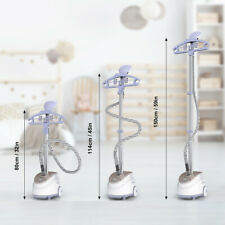 1350W 1.7L Stand Garment Steamer Clothes Fabric Steam Brush Hanger 11 Level Home