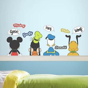 New MICKEY PLUTO GOOFY DONALD DUCK WALL DECALS Dry Erase Thought Bubble Stickers