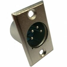 UKDJ 4 Pin XLR Male Chassis Plug with Solder Terminals