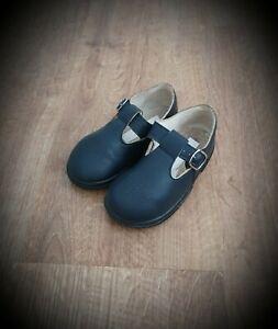 #27 Navy Blue  Boys T Bar Shoes UK size 6 Infant