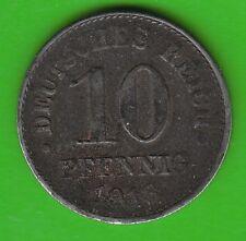 Kaiserreich 10 Pfennig 1918 D Eisen sehr seltener Jahrgang sehr schön nswleipzig