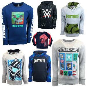 Boys Girls Fortnite Minecraft Star Wars WWF Hoodie Sweatshirt Age 4 - 18 Years