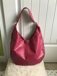 Hobo The Original Shoulder Bag Purse Distressed Pink Color