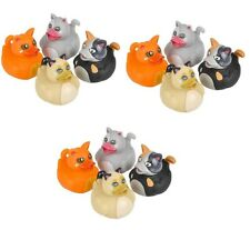 12 Count Cat Style Rubber Ducks New 2 Inches Tall Toy Prank Gag