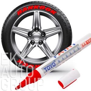 5Pcs Paint Pen Marker Waterproof Permanent Car Tire Lettering Rubber Letter Red