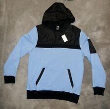 Men's S F Pullover Hoodie Long Sleeve Sweatshirt Top Blue & Black NWT Size Large