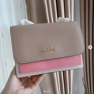 NWT Coach Klare Crossbody In Signature Canvas/Pebbled leather