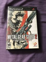 Metal Gear Solid 2 Sons Of Liberty Sony PS2 COMPLETE (Konami, 2001)