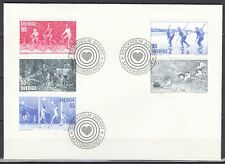 SWEDEN  1977  FDC SC# 1196 - 1200  Physical Fitness