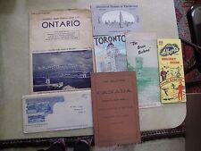 Lot of Canada Ontario Alberta Travel Guide Tourism Maps Parliament Toronto Govt