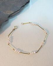 Armband 585 Gelbgold mit Zuchtperlen sehr schickes Armband (T20)
