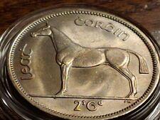 BU  Uncirculated PL 1967 Ireland 1/2 Half CROWN 2s6d 1/2 Coiron w Holder