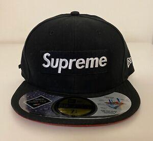Supreme Gore-Tex New Era 2013 Box Logo Fitted Hat 7 1/4 Cap Black White Red NEW!