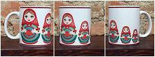 Tazza Mug ceramica bianca matrioska bambole   TZG005