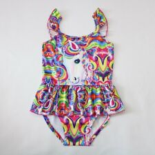 Us Stock Children's Girls' Unicorn Swimsuit Swimming Bathing Suit o35