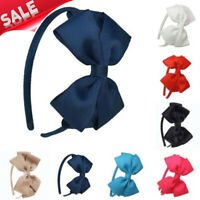 Kids Girls Child Cute Hair Bands School Bow alice Band headband Satin Fabric new