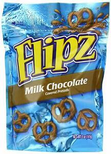 Flipz Milk Chocolate Covered Pretzels 141g (5oz) - Pack of 2
