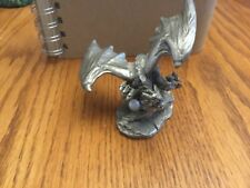 Pewter Dragon With Faux Pearl