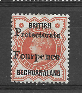 British Bechuanaland 1/2d Vermilion Overprinted Fourpence SG 53 Mounted Mint